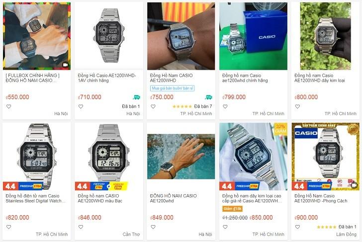 Đồng hồ Casio AE-1200WHD-1AVDF chính hãng - Ảnh: 1