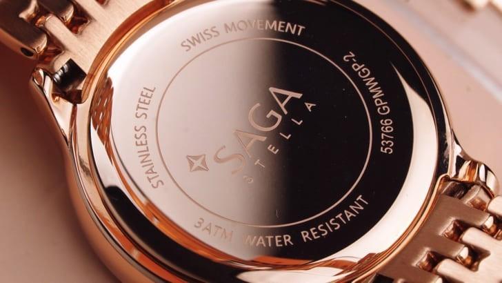 Đồng hồ Saga 53766 GPMWGP-2 đính đá Swarovski cao cấp - Ảnh 6