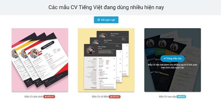 TOP 10 website tạo CV nhân viên bán hàng thời trang miễn phí Ảnh 2