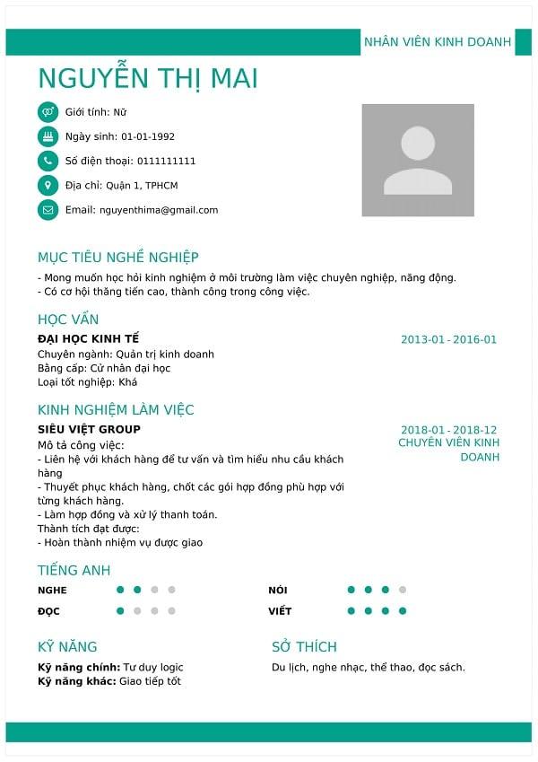 TOP 10 website tạo CV nhân viên bán hàng thời trang miễn phí Ảnh 5
