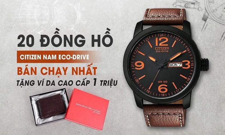 20 dong ho citizen eco drive nam ban chay nhat tang vi da fujita cao cap nhat ban tri gia 1 trieu
