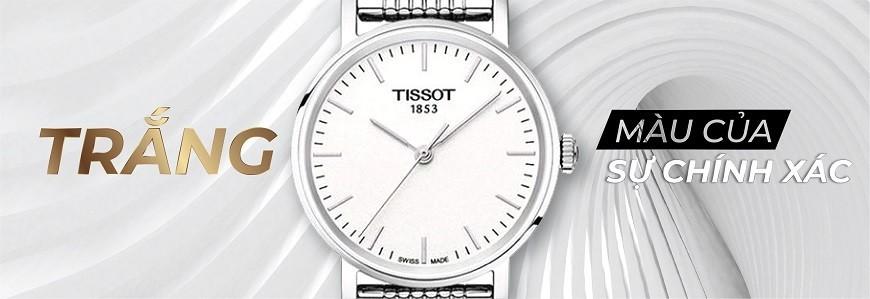 Đồng hồ mặt màu Trắng chính hãng 100% - Bảo hành 5 năm