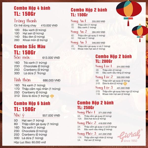 Bảng giá 20 hãng bánh trung thu ngon, lâu đời nhất hiện nay