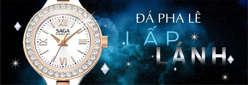 Đồng hồ đính đá nam, nữ chính hãng 100% - Bảo hành 5 năm
