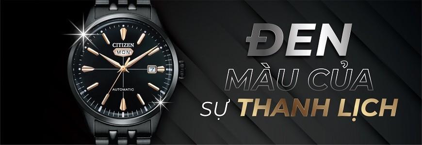 3.000+ đồng hồ mặt màu Đen chính hãng 100% - Bảo hành 5 năm