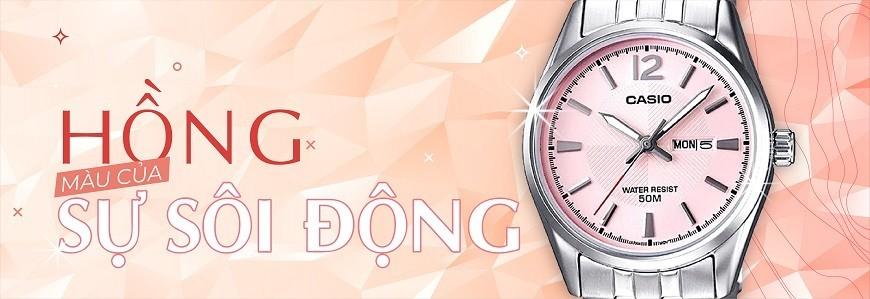 Đồng hồ mặt màu Hồng (Hồng đậm, hồng nhạt, hồng cánh sen,...)
