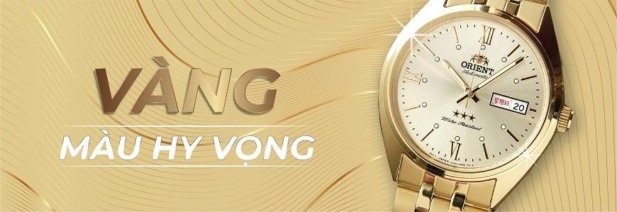 Đồng hồ mặt màu Vàng (vàng, vàng đồng,...) - Bảo hành 5 năm