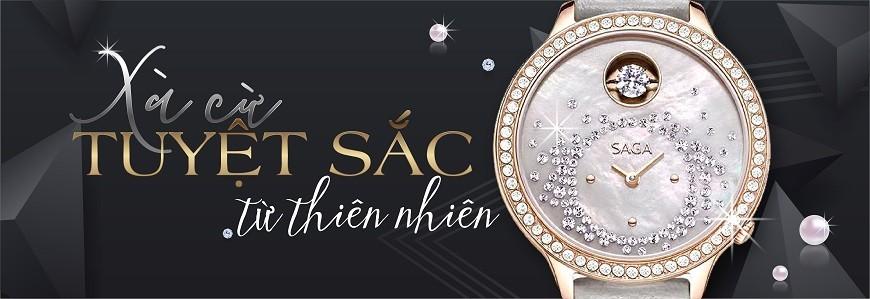 Đồng hồ mặt số khảm xà cừ nam nữ giá rẻ, chính hãng 100%
